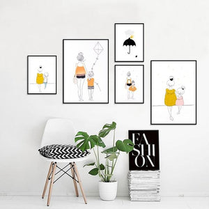 """My Lovely Things"" Illustrated Art Prints (Choice of 4 Designs), Friend of BubbleChops - BubbleChops LLC"
