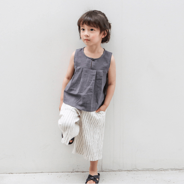Sleeveless Cotton Top, Suga - BubbleChops LLC