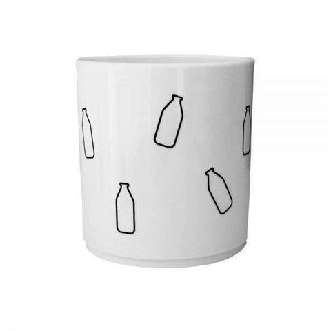 The Milk Collective - Milk Bottle Melamine Cup - BubbleChops - 1