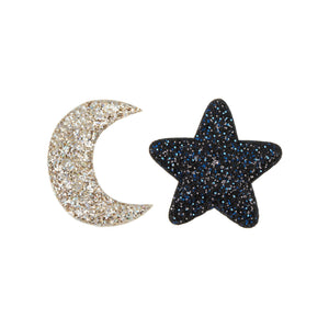 Midnight Glitter Clips (Set of 2), Mimi and Lula - BubbleChops LLC