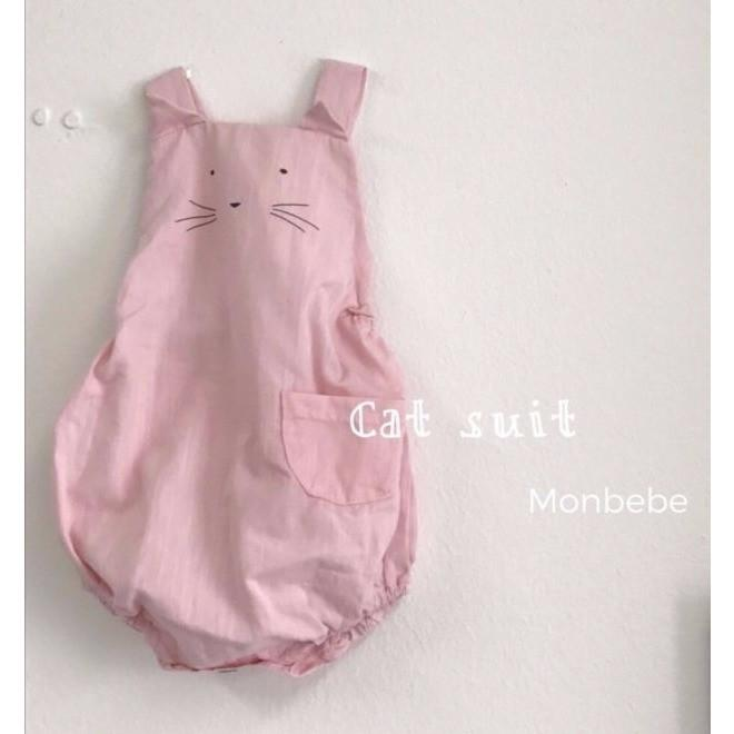 Kitty Romper (Pink), Monbebe - BubbleChops LLC