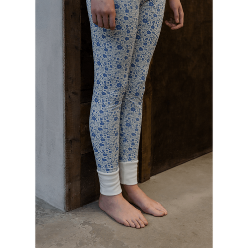 Dancing Floral Mama Leggings, Sleepy Doe - BubbleChops LLC