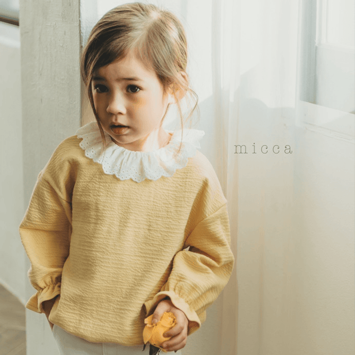 Ruffle Collar Blouse, Micca - BubbleChops LLC