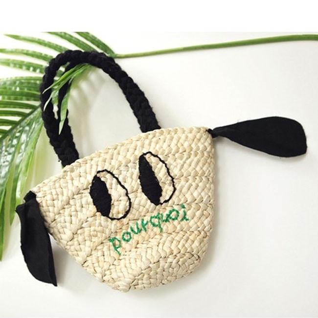 Puppy Straw Bag, Bien a Bien - BubbleChops LLC