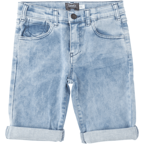 Tocoto Vintage - Washed Denim Bermuda Shorts, Tocoto Vintage - BubbleChops LLC