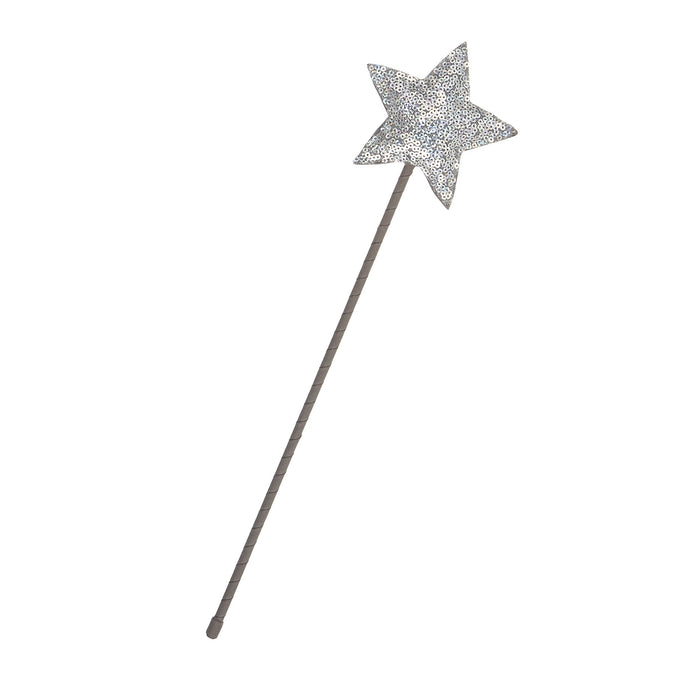 Sparkle Sequin Star Wand - Silver, Mimi and Lula - BubbleChops LLC