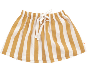 White & Camel Striped Skirt, Tinycottons - BubbleChops LLC