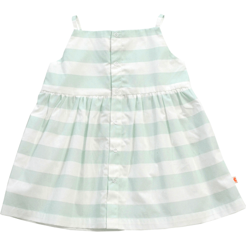 Tinycottons - White & Blue Striped Dress - BubbleChops
