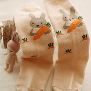 Bunny & Carrot Knee Socks, Arim Closet - BubbleChops LLC