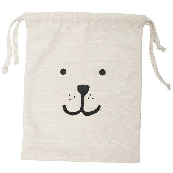 Reusable Bear Fabric Storage Bag (Small), Tellkiddo - BubbleChops LLC