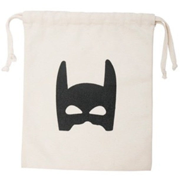 Reusable Superhero Fabric Storage Bag (Small), Tellkiddo - BubbleChops LLC