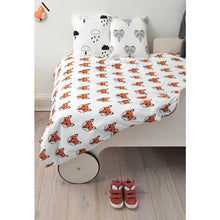 Just Call Me Fox Toddler Bed (Cotbed) Duvet & Pillowcase Set, Tobias & the Bear - BubbleChops LLC