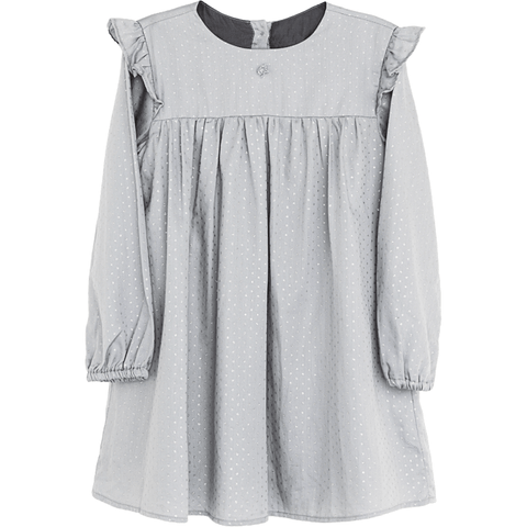 Tocoto Vintage Light Grey Dress - BubbleChops