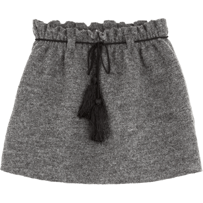 Grey Wool Skirt, Tocoto Vintage - BubbleChops LLC