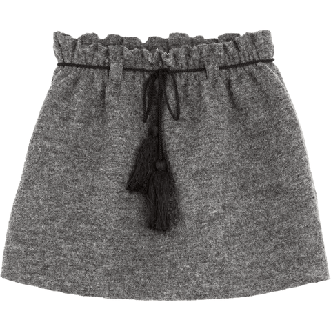 Tocoto Vintage - Grey Wool Skirt - BubbleChops - 1