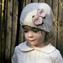 Hand Crochet Beanie with Rose Flowers, Aravore - BubbleChops LLC