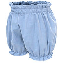 White Sketch Book - Popcorn Bloomers (Blue / Grey) - BubbleChops - 1