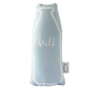 Blue Milk Bottle Rattle, The Milk Collective - BubbleChops LLC