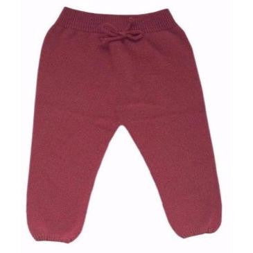 Nico Knitted Leggings in Burgundy, Plumeti Rain - BubbleChops LLC