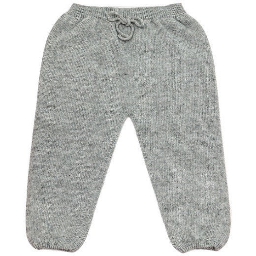 Nico Knitted Leggings in Grey, Plumeti Rain - BubbleChops LLC