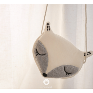 Fox Bag (Ivory & Grey), Arim Closet - BubbleChops LLC