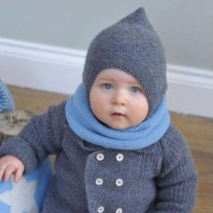 Cashmere Dark Grey Bonnet, Olivier Baby & Kids - BubbleChops LLC
