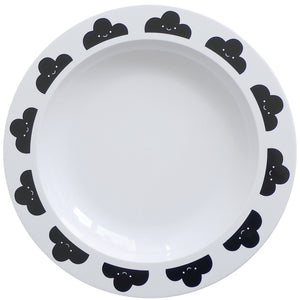 Black Happy Clouds Plate, Buddy and Bear - BubbleChops LLC