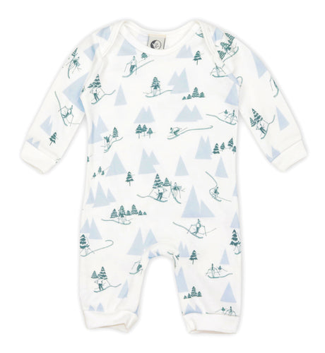 Alpine Adventure Baby Romper, Sleepy Doe - BubbleChops LLC