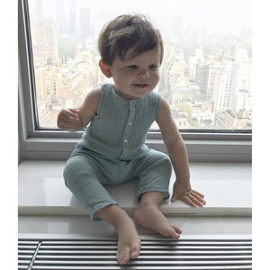 Unisex Baby Cotton Playsuit, Tocoto Vintage - BubbleChops LLC