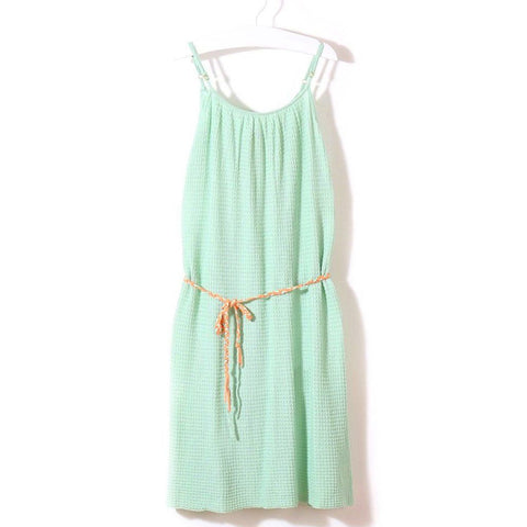 Knit Planet - Green Summer Dress - Bubblechops