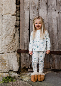Alpine Adventure Top & Bottom PJ Set, Sleepy Doe - BubbleChops LLC