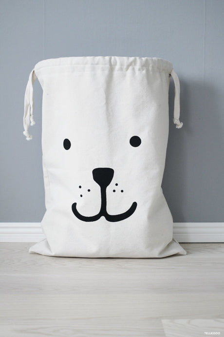 Reusable Bear Storage Fabric Bag (Large), Tellkiddo - BubbleChops LLC