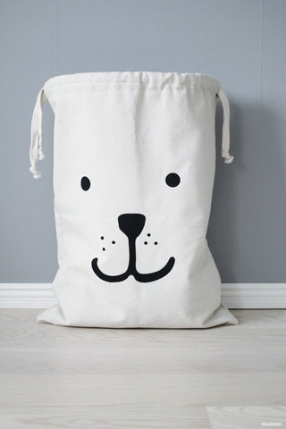 Tellkiddo - Reusable Bear Storage Fabric Bag (Large), Tellkiddo - BubbleChops LLC