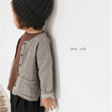 Striped Cotton Jacket, Little Colli - BubbleChops LLC