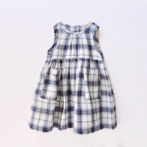 Amber - Blue Gingham Dress, Amber - BubbleChops LLC