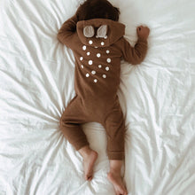 Bambi Jumpsuit in Camel, Lala - BubbleChops LLC