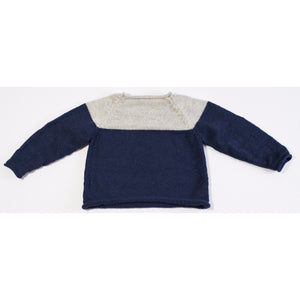 Handknitted Alpaca Wool Unisex Sweater (Navy), Elks of Ireland - BubbleChops LLC