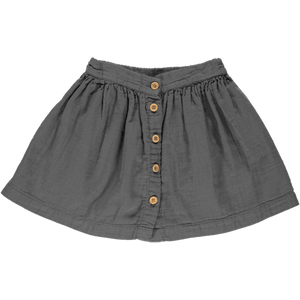 Midi Skirt in Irongate (Organic Cotton), Poudre Organic - BubbleChops LLC