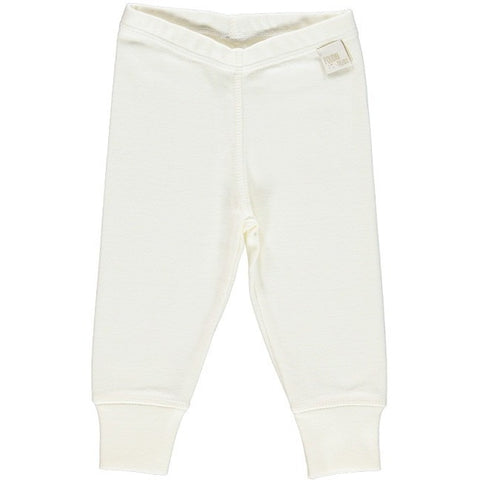 Poudre Organic - Cotton Leggings in Cream - BubbleChops
