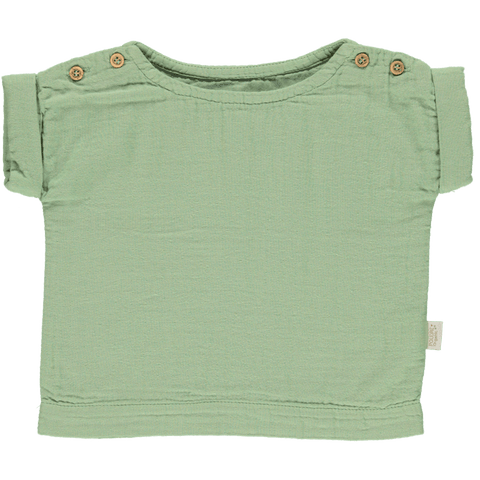 Poudre Organic - Lin Blouse in Green Jade