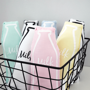 Blush Milk Bottle Rattle, The Milk Collective - BubbleChops LLC
