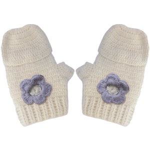 Vintage Mittens with Lavender Flowers, Aravore - BubbleChops LLC