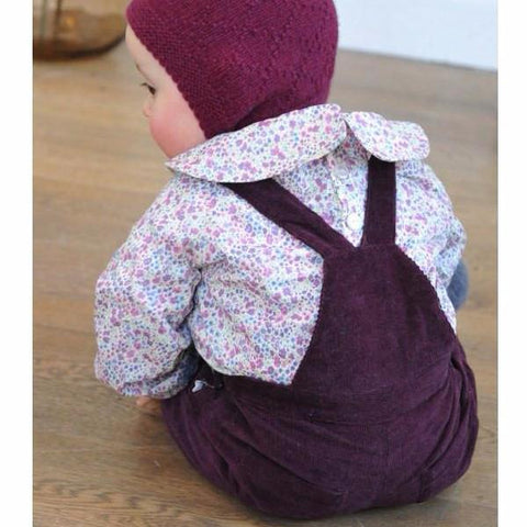 Olivier Baby & Kids - Liberty Burgundy Corduroy Dungarees, Olivier Baby & Kids - BubbleChops LLC