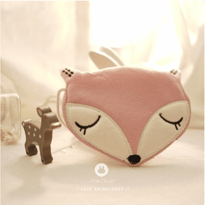 Fox Bag (Pink & Ivory), Arim Closet - BubbleChops LLC