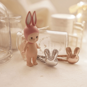 Rabbit Hairclip (Silver), Arim Closet - BubbleChops LLC
