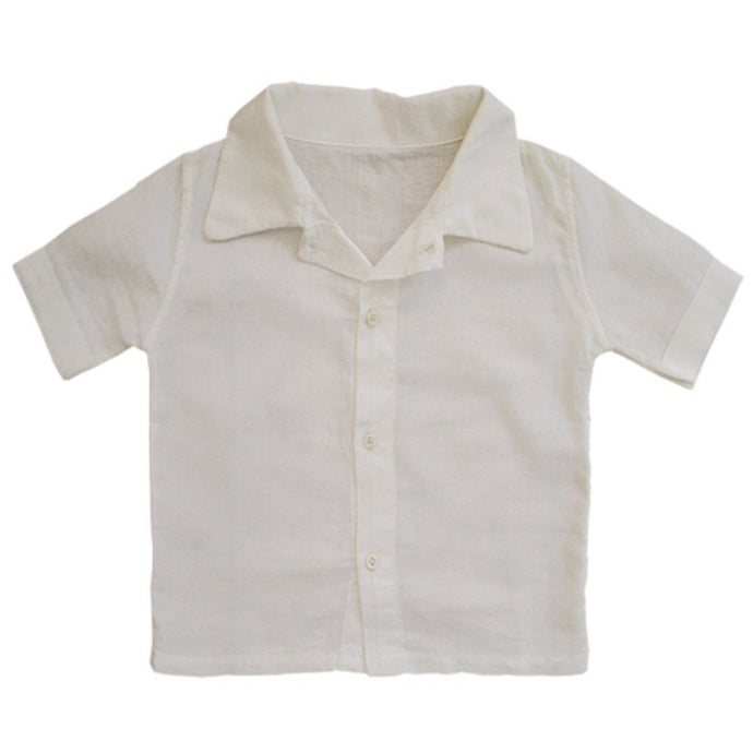 Organic Cotton Shirt in Ivory, Aravore - BubbleChops LLC