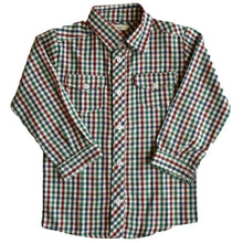 Leo Checked Shirt, Plumeti Rain - BubbleChops LLC