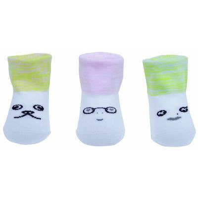 Faces Socks in Pink & Green, Petites Pattes - BubbleChops LLC
