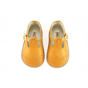 Handmade Dorothy Brogues in Mustard, The Little Shoemaker - BubbleChops LLC
