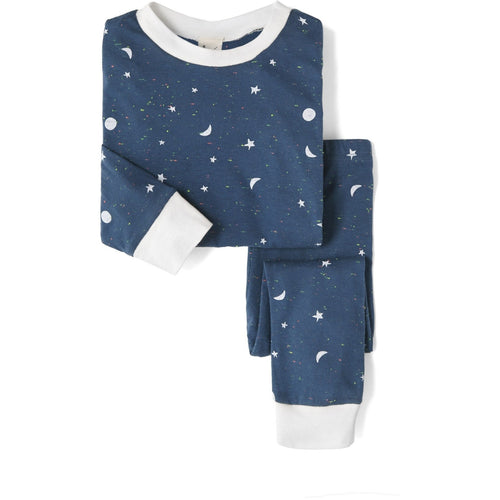 Galaxy Top & Bottom PJ Set, Sleepy Doe - BubbleChops LLC